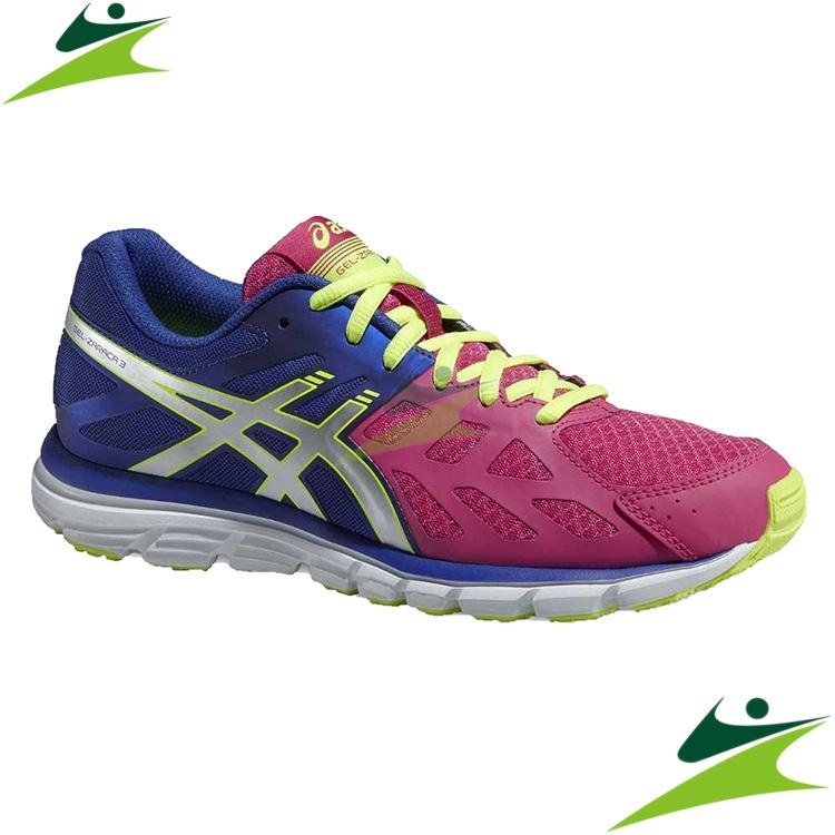 元禾)) 6折出清-2015 ASICS 女慢跑鞋 GEL-ZARACA 3 慢跑鞋 T4D8N-2093