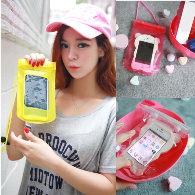 PS Mall 彩色手機套 相機保護套 防水袋 防水手機套 手機袋 手機包【J1415】