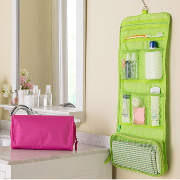 PS Mall 韓版 可掛式洗漱包 化妝包 大容量旅行收納袋 收納包 盥洗包【J1905】