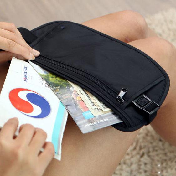 PS Mall 貼身腰包 隱形防盜腰包 貼身隨身包 小包包【J345】