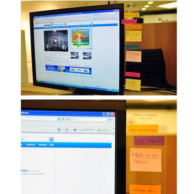 PS Mall╭* 韓國文具電腦螢幕透明便利貼留言板 螢幕貼 顯示器便利貼【J630】