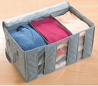 PS Mall 換季必備大容量60L竹炭衣物整理袋 防塵整理收納箱 【J634】