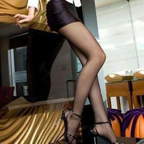 PS Mall OL專用涼爽透氣超薄透膚黑色絲襪/內搭褲襪【H072】