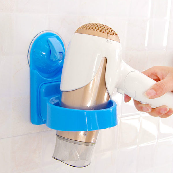 PS Mall 團購熱賣 浴室強力吸盤置物吹風機架 置物架/環【J1304】