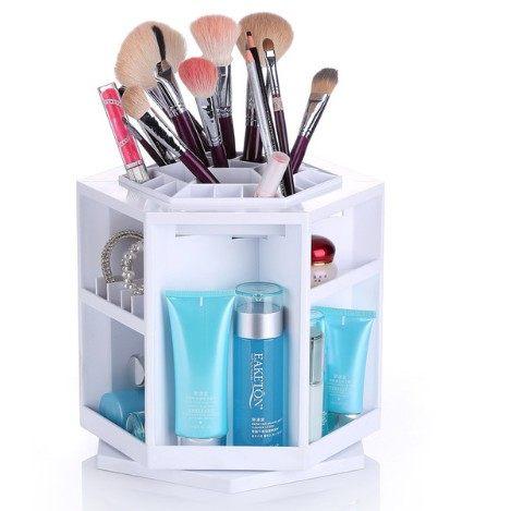 PS Mall 第二代日韓保養化妝品 收納盒 360度旋轉 拆裝DIY創意桌面收納架 化妝桌 【J1840】