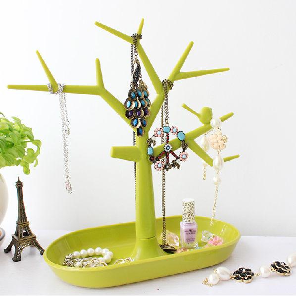 PS Mall 韓版 樹木造型彩色創意首飾收納架 戒指 耳環 展示架 鑰匙 飾品【J323】