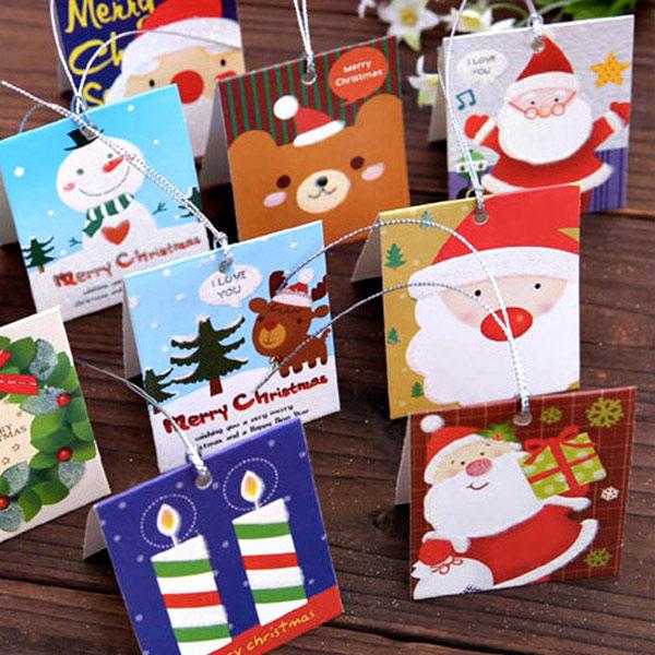 PS Mall 聖誕小賀卡 韓版可愛迷你清新潔日小卡片 聖誕節卡片聖誕卡【J512】