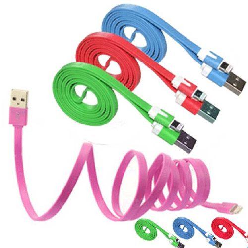 PS Mall iphone6多色麵條傳輸線 馬卡龍(型)線 充電線 iPhone 6/6PLUS/5/5S/5C 【J575】iphone6&6S Plus可用