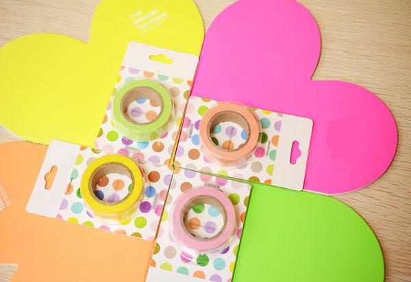 PS Mall╭*韓國文具 清新可愛紋紙膠帶 糖果色手撕 彩色和紙膠帶 【J1800】