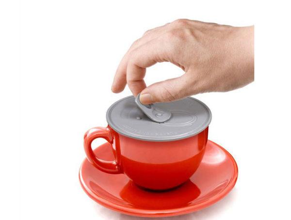 PS Mall╭*強吸力可樂罐造型杯蓋 矽膠密封杯蓋【J289】