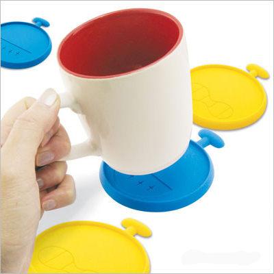 PS Mall╭*  防小人杯墊 隔熱杯 墊茶杯墊 咖啡杯墊 (2入1組)【J987】