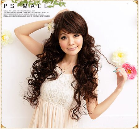 PS Mall 必備Party 夢幻女神立體髮尾長捲髮假髮 整頂假髮【F009】