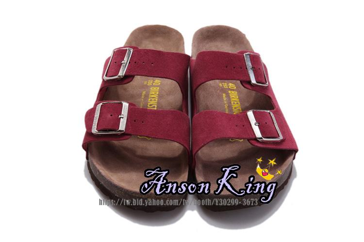 [Anson King]Outlet正品代購  birkenstock Arizona系列 男女款 懶人涼拖鞋 酒紅