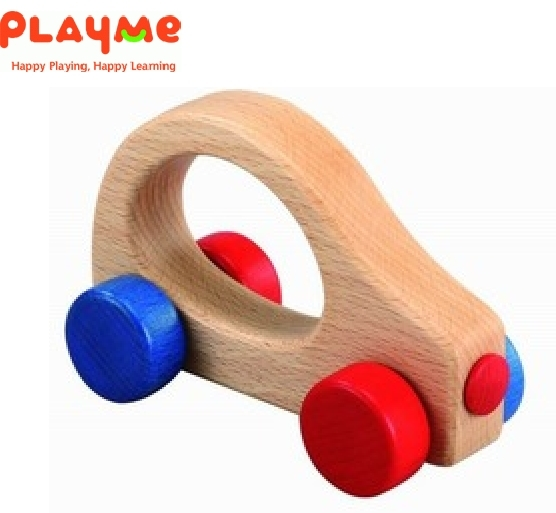 *babygo*PlayMe車車造型木製抓握玩具【ㄅㄨㄅㄨ車】