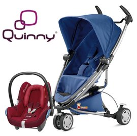 *babygo*Quinny Zapp Xtra2 2015 嬰兒手推車【藍色】+贈Maxi-Cosi提籃(顏色隨機)