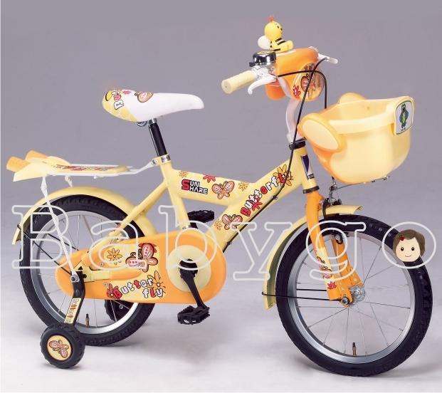*babygo*親親-16吋蜜蜂腳踏車(黃)【台灣製造】