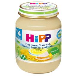 *babygo*喜寶HIPPP天然玉米馬鈴薯火雞全餐125g #6203
