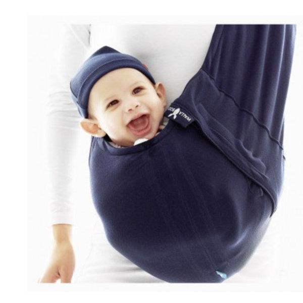 *babygo*荷蘭wallaboo酷媽袋鼠背巾【深藍素色】