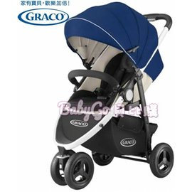 *babygo*GRACO 3W單向豪華型嬰幼兒手推車CITITREK【藍旋風】