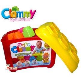 *babygo*Clemmy義大利原裝進口軟積木–形狀學習桶