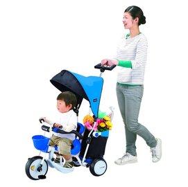 *babygo*日本IDES 超大置物箱三輪車【藍色】