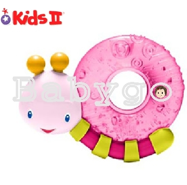 *babygo*Kids II 粉紅陽光小蝸牛固齒器