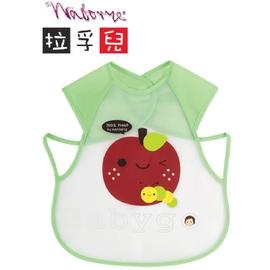 *babygo*拉孚兒擦可淨用餐圍兜背心型-蘋果(綠)
