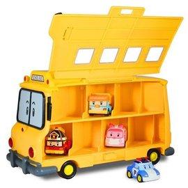 *babygo*POLI 波力-校車收納盒歡樂組合(內附二台合金車款式隨機)