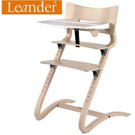 *babygo*丹麥Leander-新款二代高腳椅+二代護欄+餐盤【水洗木】