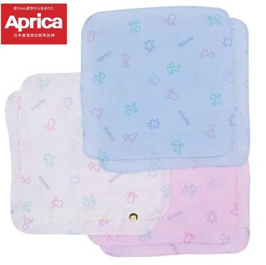 *babygo*Aprica幸福印花紗布手帕2入【藍色】