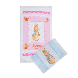 *babygo*奇哥Peter_Rabbit/彼得兔印花毛巾(藍色/粉紅)