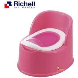 *babygo*利其爾Richell-輕便型便椅【桃】