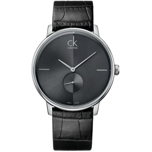 CK 日月光系列(K2Y211C3)小秒針質時尚腕錶/黑面40.5mm