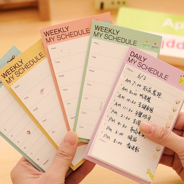 PS Mall 韓版文具 週計劃便利貼 日計劃記事貼 便條紙 便利貼 N次貼【J2164】