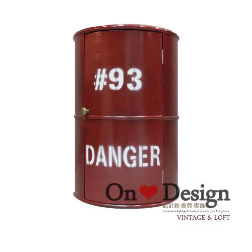 On ♥ Design ❀ LOFT 工業家具 RH風格 汽油桶 收納櫃 A款 紅色
