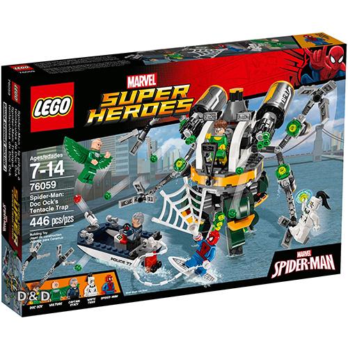 樂高積木LEGO《 LT76059 》SUPER HEROES 超級英雄系列 - 蜘蛛人 : Doc Ock's Tentacle Trap
