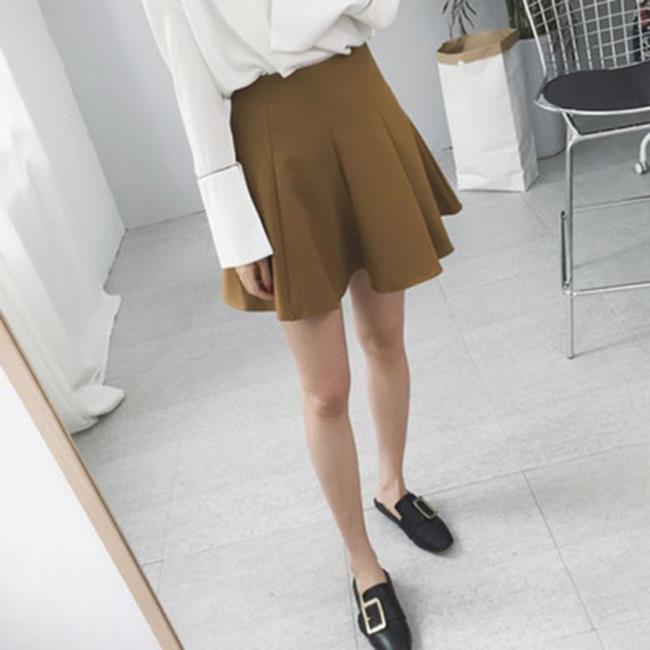 50%OFF【G020506S】實拍2016冬季新款韓版收腰A字蓬鬆高腰寬鬆女式短裙半身裙