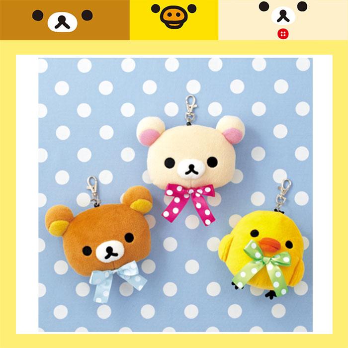 大田倉 日本進口正版 小黃雞 牛奶熊 拉拉熊 懶懶熊 輕鬆小熊 頭型 絨毛 票夾 悠遊卡夾 SS7210