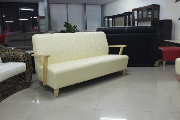 【石川家居 】TW-02 巧匠米白色3人座沙發 木扶手 另有單人、雙人 需搭配車趟