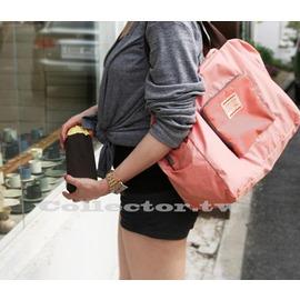 【G13100302】韓國時尚大容量 可折疊旅行收納包 購物包 手提包 單肩包