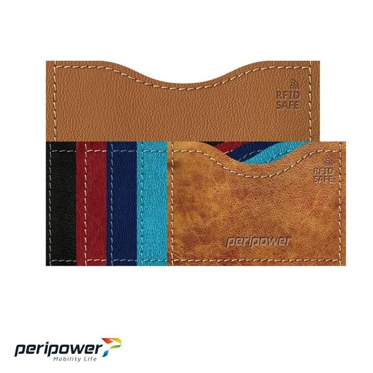 PeriPower RFID 卡安心防護套-皮革款橫式/城市綠洲(卡套、護照、信用卡)