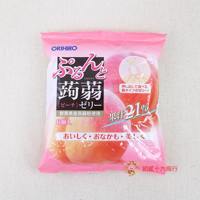 【0216零食會社】日本ORIHIRO_蒟蒻果凍(白桃)120g_6入