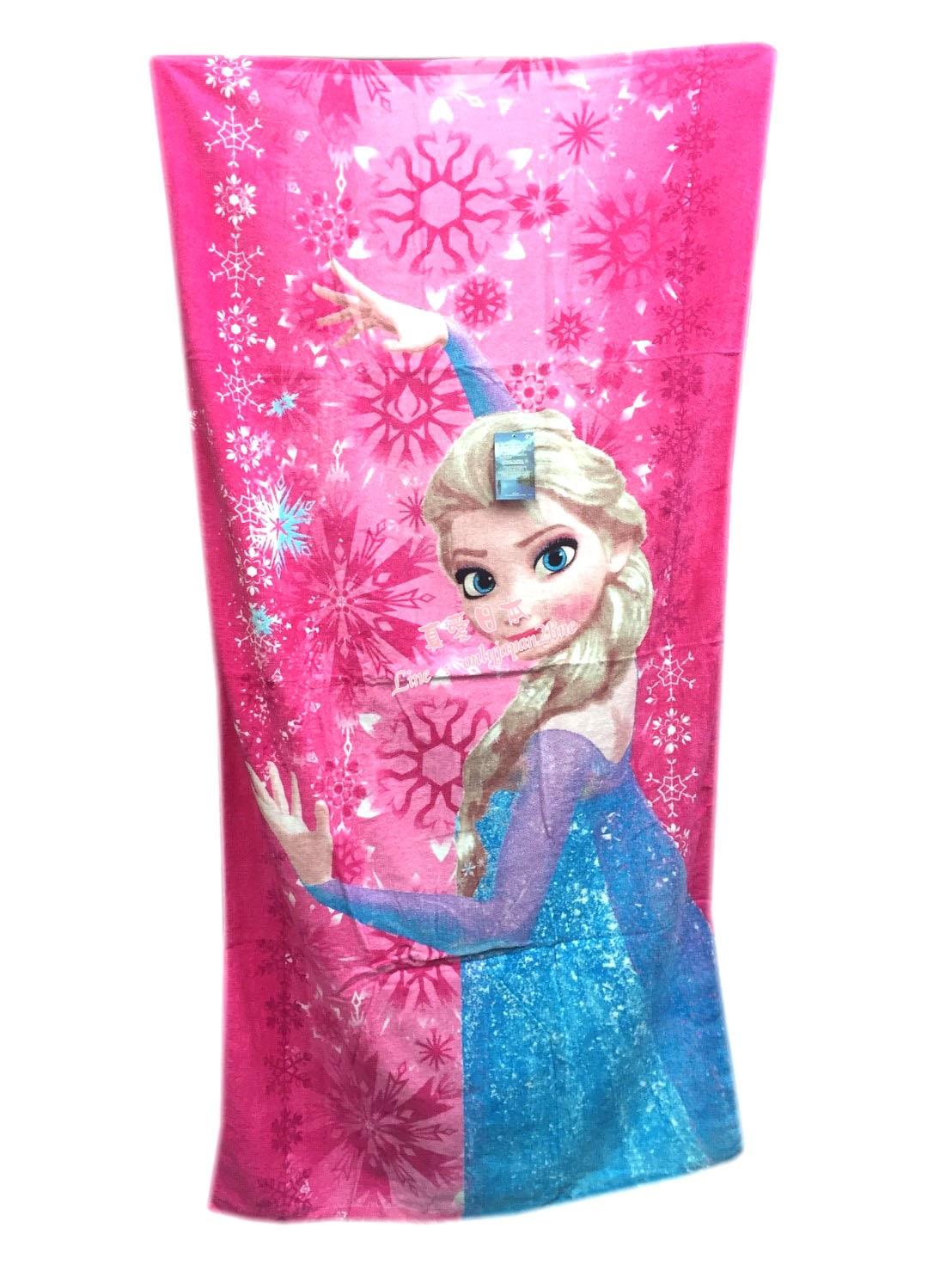 【真愛日本】16080200008特大印花浴巾-冰雪Elsa桃     迪士尼 冰雪奇緣 Frozen   浴巾  衛浴