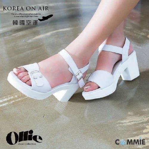 涼鞋-Ollie時尚女伶厚底釦環粗跟涼鞋.寶貝窩 .【OB607015】(預購)