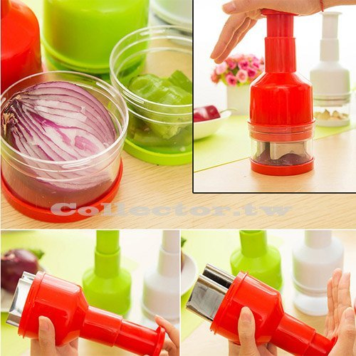 【N15081801】廚房手動按壓搗蒜器 切洋蔥器 蔬果切片器 料理創意小幫手