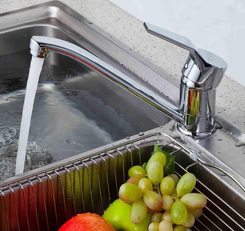 廚房水龍頭 流理台出水 檯面出水 長嘴型 冷熱龍頭 銅電鍍