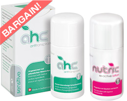 止汗劑【AHCswiss台灣】AHC敏感型50ml與Nutric2 Re-active 組合