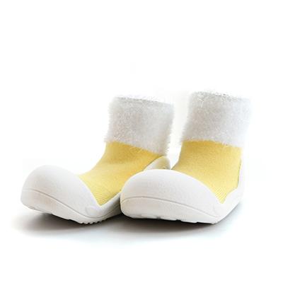 【悅兒樂婦幼用品舘】韓國Attipas快樂腳襪型學步鞋-PM02-馬卡龍黃(L/XL)