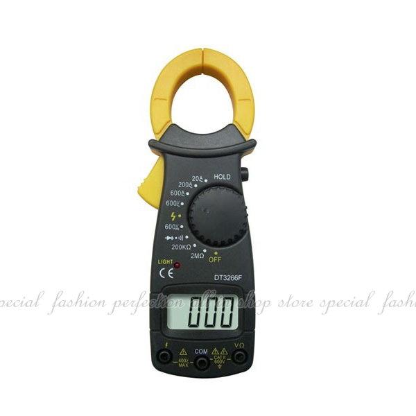 電流勾表DT3266F 數位鉗夾式電錶 帶蜂鳴器 帶超載保護電路 三用電表 交直流勾錶【DA499】◎123便利屋◎