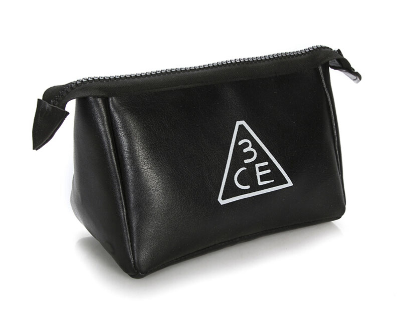 3CE化妝包 - 3CONCEPT EYES PU皮紋大容量化妝包收納包手拿包 ?AN SHOP?